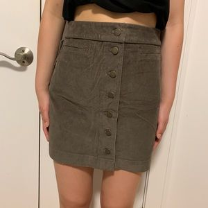 Aritzia Wilfred Free Brown/Earthy Karmen Skirt